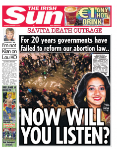 Sun splash on Savita